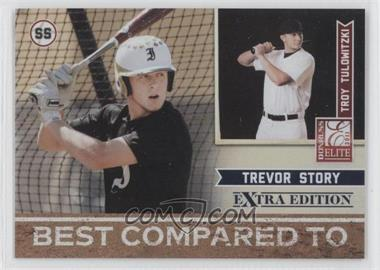 2011 Donruss Elite Extra Edition Best Compared To #12 - Trevor Story, Troy Tulowitzki /499