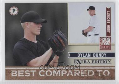 2011 Donruss Elite Extra Edition Best Compared To #2 - Dylan Bundy, Josh Beckett /499