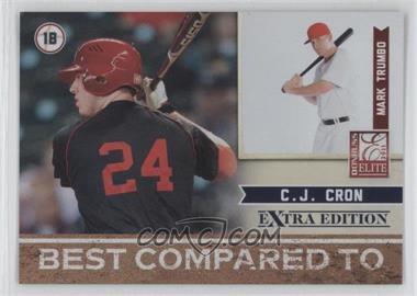 2011 Donruss Elite Extra Edition Best Compared To #3 - C.J. Cron, Mark Trumbo /499