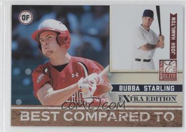 2011 Donruss Elite Extra Edition Best Compared To #4 - Josh Hamilton, Bubba Starling /499
