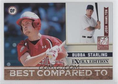 2011 Donruss Elite Extra Edition Best Compared To #4 - Josh Hamilton, Bubba Starling /499