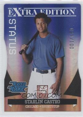 2011 Donruss Elite Extra Edition Blue Die-Cut Status #11 - Starlin Castro /100