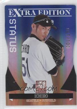 2011 Donruss Elite Extra Edition Blue Die-Cut Status #12 - Ichiro /100