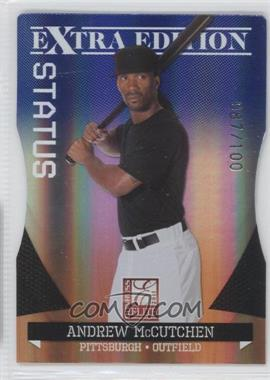 2011 Donruss Elite Extra Edition Blue Die-Cut Status #16 - Andrew McCutchen /100
