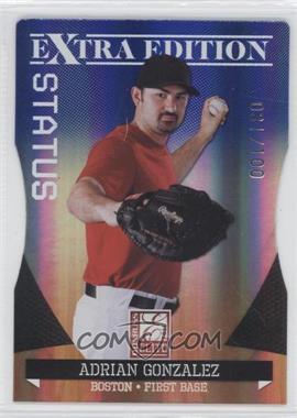 2011 Donruss Elite Extra Edition Blue Die-Cut Status #2 - Adrian Gonzalez /100