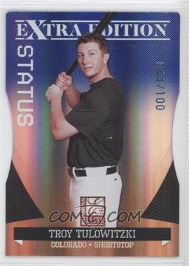 2011 Donruss Elite Extra Edition Blue Die-Cut Status #24 - Troy Tulowitzki /100