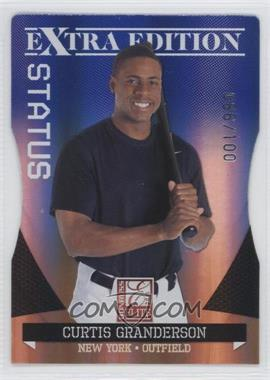 2011 Donruss Elite Extra Edition Blue Die-Cut Status #7 - Curtis Granderson /100