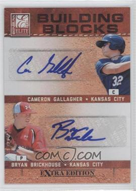 2011 Donruss Elite Extra Edition Building Blocks Dual Signatures [Autographed] #14 - Bryan Brickhouse, Cameron Gallagher /49
