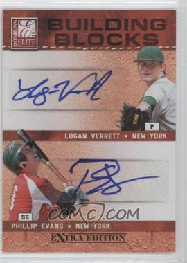 2011 Donruss Elite Extra Edition Building Blocks Dual Signatures [Autographed] #6 - Logan Verrett, Phillip Evans /49