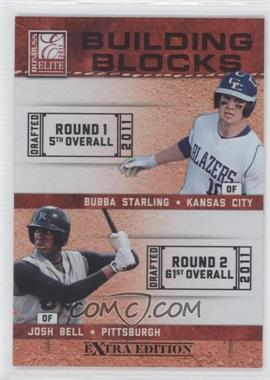 2011 Donruss Elite Extra Edition Building Blocks Dual #1 - Bubba Starling, Josh Bell
