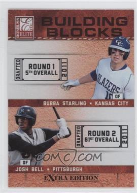 2011 Donruss Elite Extra Edition Building Blocks Dual #1 - Bubba Starling, Josh Bell