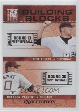 2011 Donruss Elite Extra Edition Building Blocks Dual #10 - Brandon Parrent, Nick Fleece