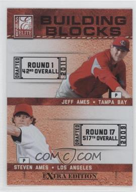 2011 Donruss Elite Extra Edition Building Blocks Dual #11 - Steven Ames, Jeff Ames