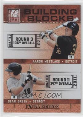 2011 Donruss Elite Extra Edition Building Blocks Dual #12 - Aaron Westlake, Dean Green