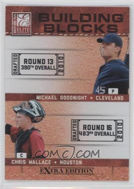 2011 Donruss Elite Extra Edition Building Blocks Dual #13 - Chris Wallace, Michael Goodnight