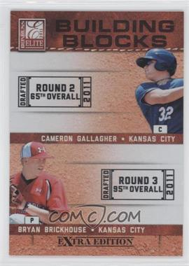 2011 Donruss Elite Extra Edition Building Blocks Dual #14 - Bryan Brickhouse, Cameron Gallagher