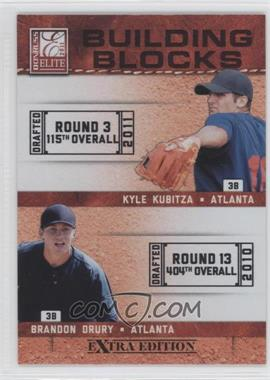 2011 Donruss Elite Extra Edition Building Blocks Dual #2 - Kyle Kubitza, Brandon Drury