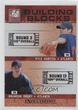 2011 Donruss Elite Extra Edition Building Blocks Dual #2 - Kyle Kubitza, Brandon Drury