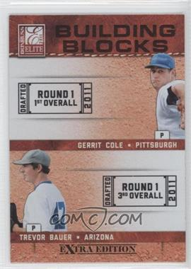 2011 Donruss Elite Extra Edition Building Blocks Dual #3 - Gerrit Cole, Trevor Bauer