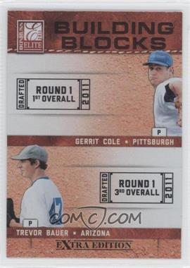 2011 Donruss Elite Extra Edition Building Blocks Dual #3 - Gerrit Cole, Trevor Bauer