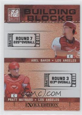 2011 Donruss Elite Extra Edition Building Blocks Dual #4 - Abel Baker, Pratt Maynard