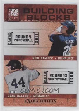 2011 Donruss Elite Extra Edition Building Blocks Dual #7 - Sean Halton, Nick Ramirez