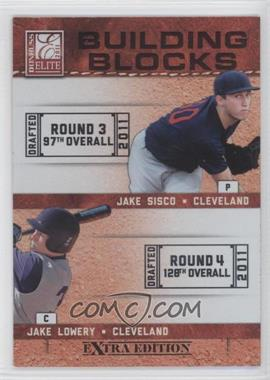 2011 Donruss Elite Extra Edition Building Blocks Dual #8 - Jake Sisco, Jake Lowery