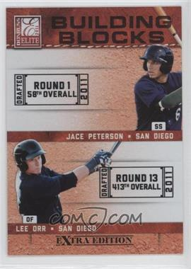 2011 Donruss Elite Extra Edition Building Blocks Dual #9 - Lee Orr, Jace Peterson