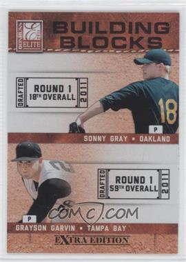 2011 Donruss Elite Extra Edition Building Blocks Quads #1 - Aaron Westlake, Grayson Garvin, Corey Williams, Sonny Gray