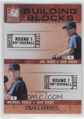 2011 Donruss Elite Extra Edition Building Blocks Quads #10 - Austin Hedges, Jace Peterson, Michael Kelly, Joe Ross