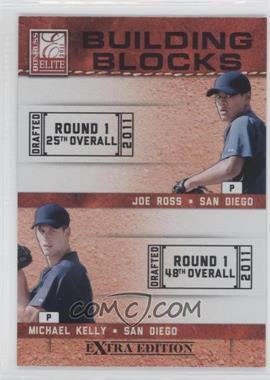 2011 Donruss Elite Extra Edition Building Blocks Quads #10 - Austin Hedges, Jace Peterson, Michael Kelly, Joe Ross