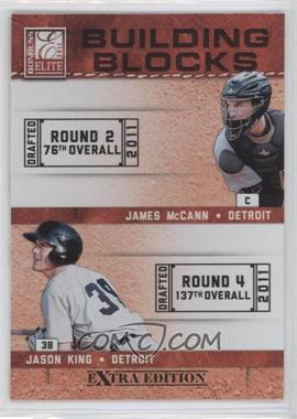 2011 Donruss Elite Extra Edition Building Blocks Quads #3 - Brian Flynn, Jason King, James McCann, Jason Krizan