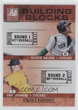 2011 Donruss Elite Extra Edition Building Blocks Quads #4 - Kyle McMillen, Erik Johnson, Keenyn Walker, Scott Snodgress