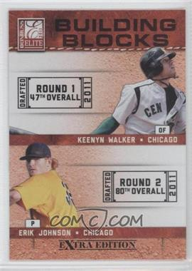 2011 Donruss Elite Extra Edition Building Blocks Quads #4 - Kyle McMillen, Erik Johnson, Scott Snodgress