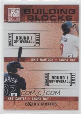 2011 Donruss Elite Extra Edition Building Blocks Quads #5 - Granden Goetzman, Kes Carter, Johnny Eierman, Mikie Mahtook