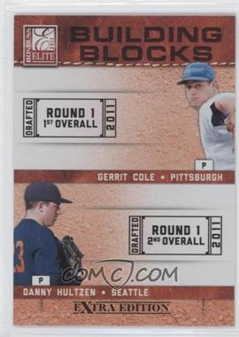 2011 Donruss Elite Extra Edition Building Blocks Quads #7 - Danny Hultzen, Dylan Bundy, Gerrit Cole, Trevor Bauer
