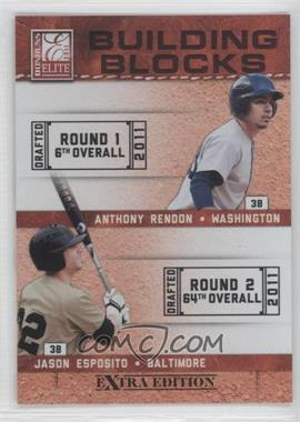 2011 Donruss Elite Extra Edition Building Blocks Quads #8 - Harold Martinez, Jason Esposito, Anthony Rendon, Matt Dean