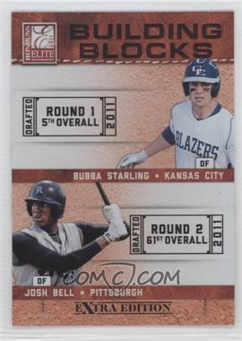 2011 Donruss Elite Extra Edition Building Blocks Quads #9 - Bubba Starling, Josh Bell, Brandon Nimmo, Dwight Smith Jr.