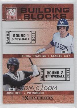 2011 Donruss Elite Extra Edition Building Blocks Quads #9 - Bubba Starling, Josh Bell, Brandon Nimmo, Dwight Smith Jr.