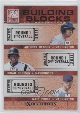 2011 Donruss Elite Extra Edition Building Blocks Trios #1 - Anthony Rendon, Brian Goodwin, Matt Purke