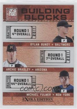 2011 Donruss Elite Extra Edition Building Blocks Trios #2 - Michael Fulmer, Archie Bradley, Dylan Bundy