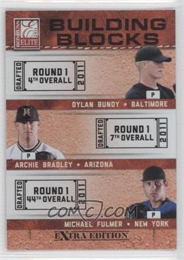 2011 Donruss Elite Extra Edition Building Blocks Trios #2 - Michael Fulmer, Archie Bradley, Dylan Bundy
