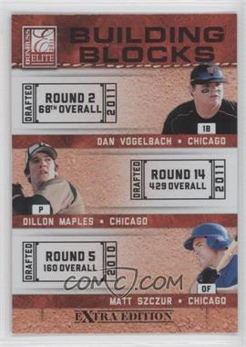 2011 Donruss Elite Extra Edition Building Blocks Trios #3 - Dan Vogelbach, Dillon Maples, Matt Szczur