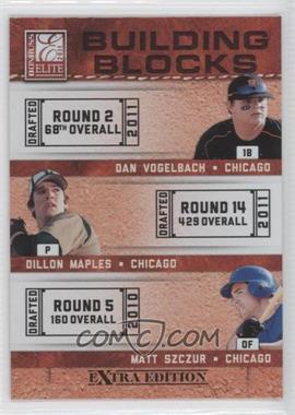 2011 Donruss Elite Extra Edition Building Blocks Trios #3 - Dan Vogelbach, Dillon Maples, Matt Szczur