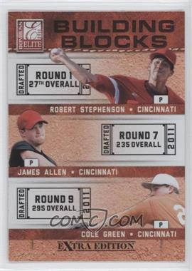 2011 Donruss Elite Extra Edition Building Blocks Trios #5 - James Allen, Cole Green, Robert Stephenson