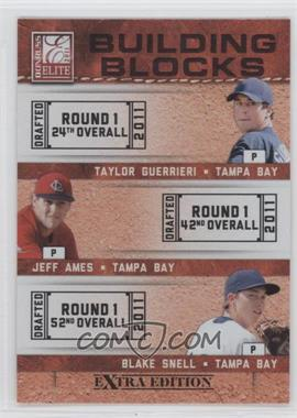 2011 Donruss Elite Extra Edition Building Blocks Trios #6 - Blake Snell, Jeff Ames, Taylor Guerrieri
