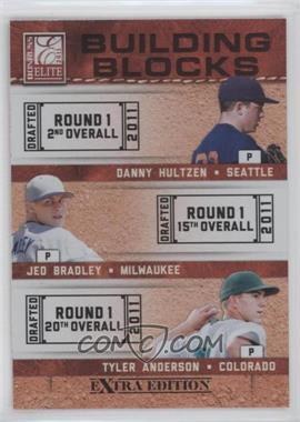 2011 Donruss Elite Extra Edition Building Blocks Trios #8 - Tyler Anderson, Danny Hultzen, Jed Bradley