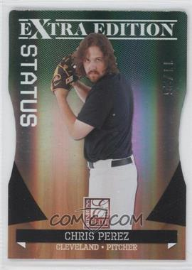 2011 Donruss Elite Extra Edition Emerald Status Die-Cut #5 - Chris Perez /25
