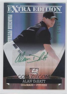 2011 Donruss Elite Extra Edition Franchise Futures Signatures Green Ink #166 - Alan DeRatt /10