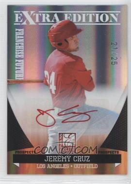 2011 Donruss Elite Extra Edition Franchise Futures Signatures Red Ink #172 - Jeremy Cruz /25